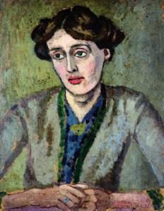 Portrait of Virginia Woolf by Roger Fry via Wikimedia Commons